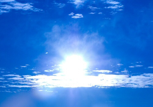 Sunshine through the clouds